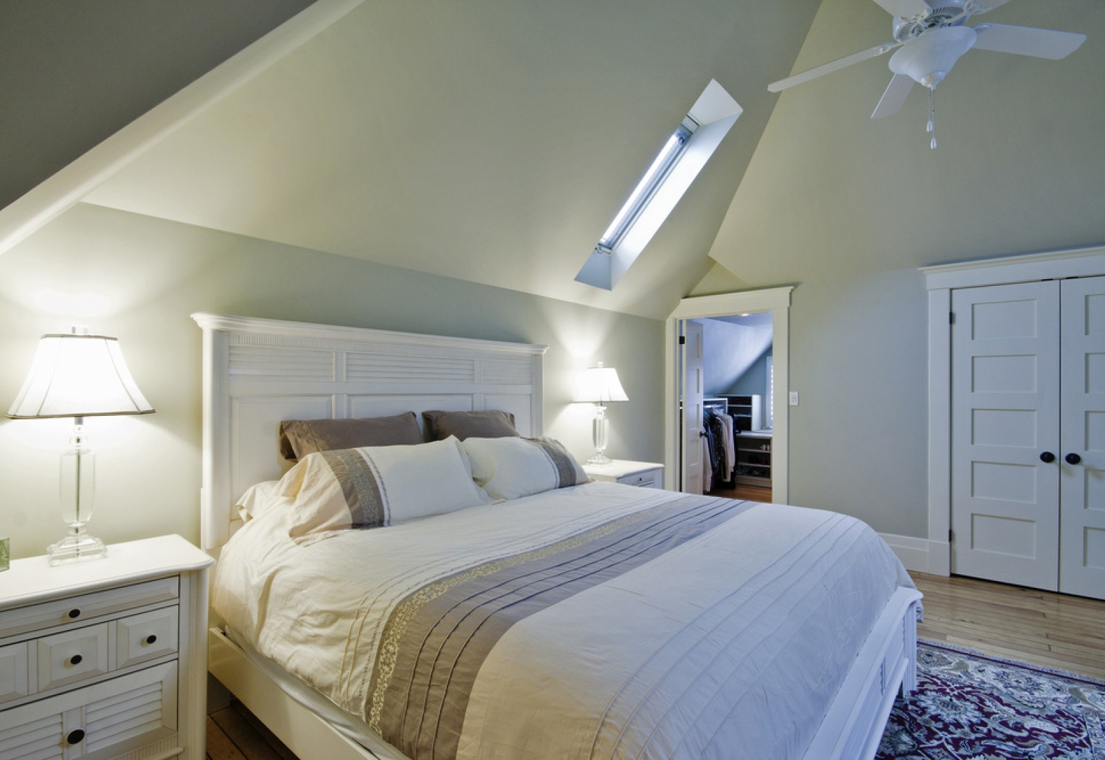 Beautiful master bedroom in 3rd storey attic